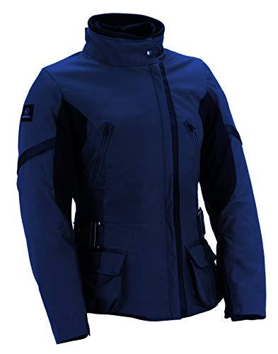 SMOOK S-Lady - Chaqueta de moto para mujer, impermeable, color azul...