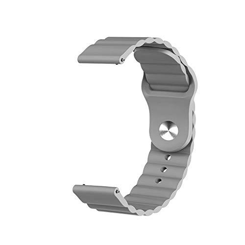 HGGFA Tierra de Silicona de 20 mm para Samsung Galaxy Watch Active 2 para Huawei Watch GT 2 para Honor Magic Watch 2 Amazfit BIP GTS GTR Gear Sport Band (Band Color : Grey, Band Width : 22mm)