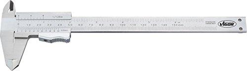 Vigor Pied à coulisse mécanique Longueur totale : 235 mm, 1 pièce, v4690
