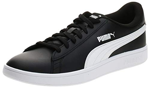 PUMA Smash V2 L, Zapatillas Unisex Adulto, Negro Black White, 41 EU