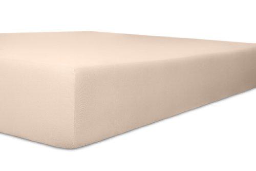Kneer Spannbettlaken, Spannbetttuch, Fein-Jersey Qualität 50 Verschiedene Größen und Farben 120 x 200-130 x 200 cm zartrose