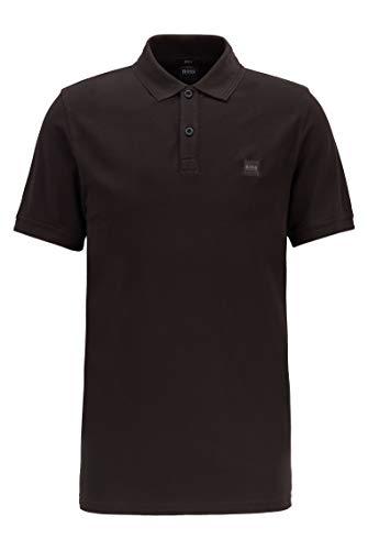 BOSS Herren Prime Slim-Fit Poloshirt aus gewaschenem Baumwoll-Piqué