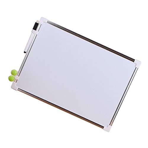 Idyandyans Double Side Magnettafel Büro-Schule Dry Weiße Tafel, Stift Magnete Buttons Erase-Schreibens-Brett-Feder Magnete Buttons
