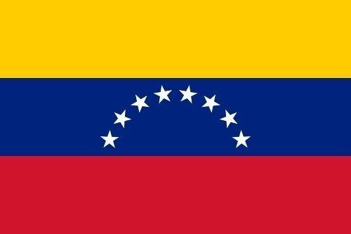 U24 sticker Venezuela vlag vlag vlag 8 x 5 cm autosticker sticker
