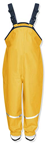 Playshoes Unisex Kinder Regenhose, Buddelhose, Matschhose, Gelb (Gelb)Gr.92