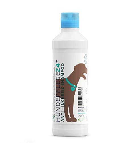 Hundepflege24 100% Veganes & natürliches Hundeshampoo gegen Juckreiz, Milben, Flöhe & Pilz- Befall - 500ml für Hund & Katze - Anti-mikrobiell, antibakteriell & mit pflegender Kamille