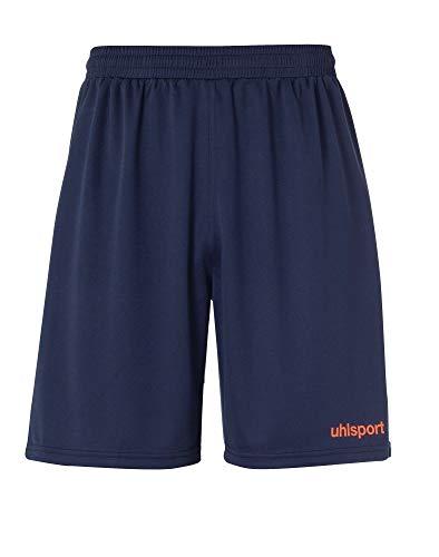 uhlsport Center Basic Shorts Pantalon Homme, Marine/Rouge Fluo, XXL