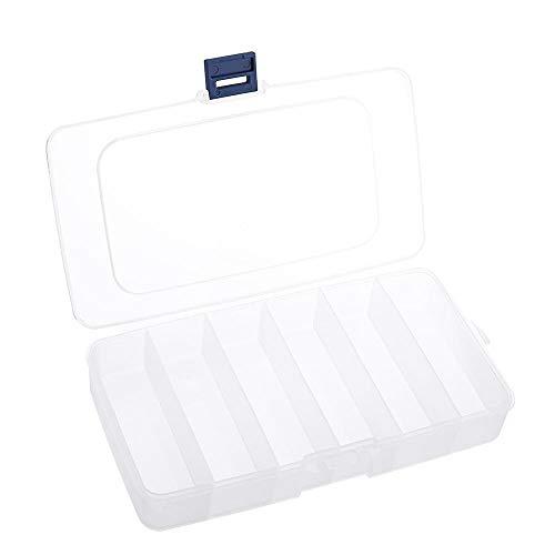 Conjuntos y componentes electrónicos DIY Caso de plástico Caja de 2 Piezas 6 Rejilla Ajustable Componentes Electrónicos Proyecto de Almacenamiento de Caja Surtido de Bolas Organizador de la joyería