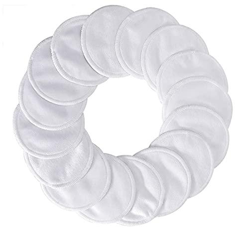 DERCLIVE 20pcs/Set Almohadillas redondas lavables reutilizables del soplo del maquillaje con el bolso de la malla