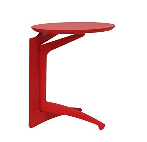 Del Fabbro 1 Tavolino Pieghevole, Rosso Verniciato, Altezza 63cm