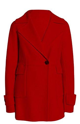 Diane von Furstenberg Marla Red Wool Coat (S)
