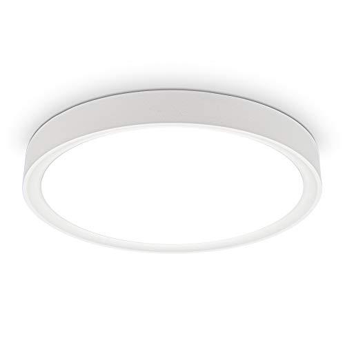 B.K.Licht I 15 W LED Deckenleuchte I 4.000K I 33,5 cm Durchmesser I 1.500 Lumen I neutralweißes Licht I Weiß-Matt