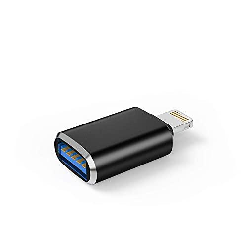 BAOZUPO Relámpago Hombre a usb3.0 Adaptador Femenino Cable OTG para iPhone 12 11 XR X XS 8 7 Plus MAX Compatible con iPad Air Pro Mini, Soporte Lector de Tarjetas de cámara