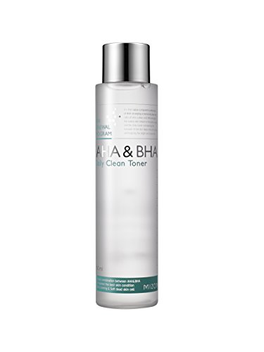 Mizon AHA&BHA Daily Clean Toner 5.07 fl oz, Daily Peeling Toner, Smooth Skin Texture, Removes Skin Wastes in Pores