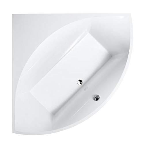 Villeroy und Boch Badewanne Quaryl Eck Squaro Slim Line, UBQ145SQS3V-, 1445x1445mm, inkl. Wannenfüße, Farbe: weiß-Alpin