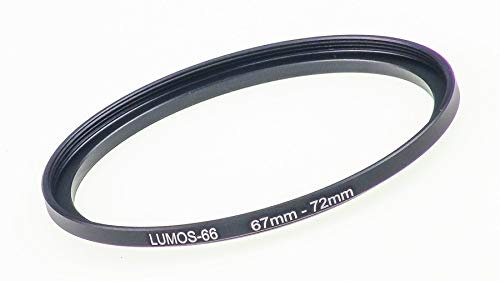 LUMOS 67-72 Step up Filteradapter Ring - Metall Filter Adapterring von Kamera Objektiv mit 67mm Filtergewinde auf 72mm Zubehör