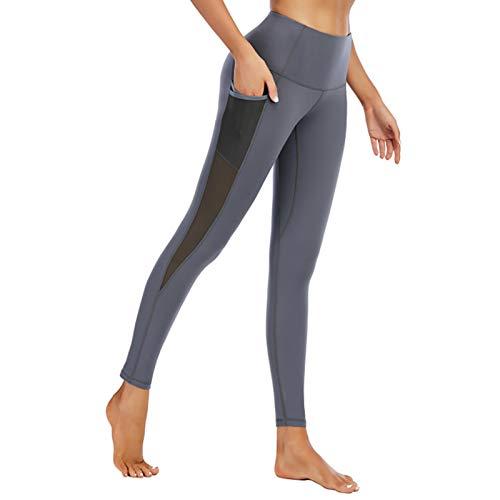 Augneveres Pantalones De Yoga De Entrenamiento para Mujeres Mono Atlético con Bolsillos Pantalones De Mujer Delgados Suaves para Entrenamiento De Yoga Mallas Deportivas Atléticas Show