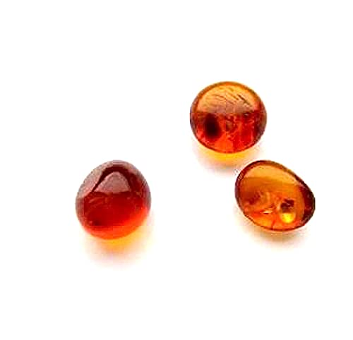 Ian and Valeri Co. Natural Baltic Amber Tiny Loose Gemstones Set of 3