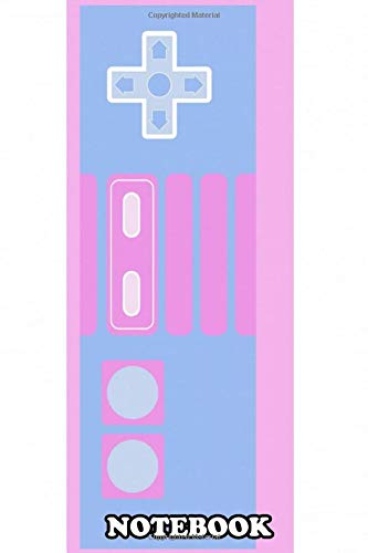 Notebook: Pastel Nes Controller , Journal for Writing, College Ruled Size 6