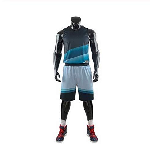 XIAOL Gradient Basketbal Jerseys Set Mannen College Trainingspakken Ademend Volwassen Team Basketbal Uniforms op maat