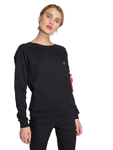 ALPHA INDUSTRIES Damen Pullover X-Fit schwarz S