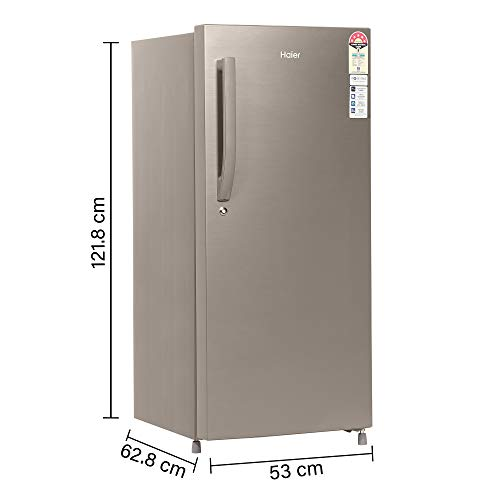 Haier 195 L 4 Star Direct-Cool Single-Door Refrigerator (HED- 20CFDS, Dazzle Steel) 3