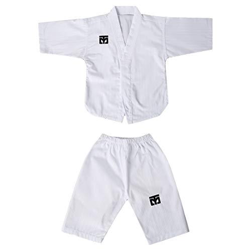 Mooto Primer cumpleaños uniforme taekwondo corea dobok para bebé-niños Consulte la página de detalles de Blanco