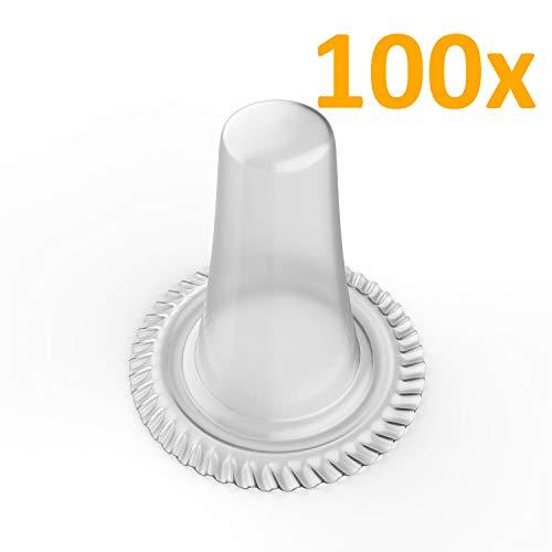 Ersatz-Schutzkappen | Hüllen passend für alle Braun Thermoscan IRT Fieberthermometer | Ohrthermometer Aufsätze 100 Stück