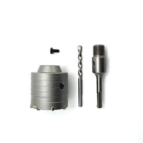 Adaskala 65mm SDS Plus Shank Hole Saw Cutter Concrete Cement Stone Wall Drill Bit