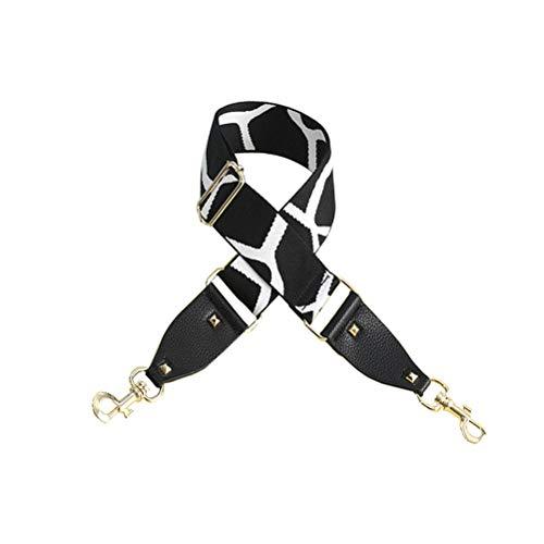 Umily Borsa cinturino 5cm larga 92cm-138cm lunghezza tracolla regolabile borsa tracolla multicolore tela tracolla cinturino