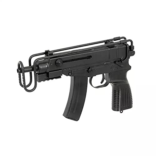 HECATE Airsoft Well SMG Scorpion VZ61 Pistole/Hochbeständiger Kunststoff und Metall/Farbe Schwarz/Elektrisch (0,5 Joule) / Halbvollautomatisch