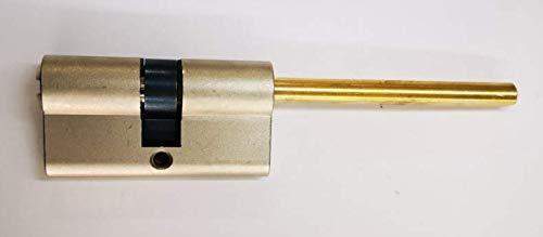 Cilindro con 5 llaves maestras centradas en forma de codol-llave de seguridad para puerta blindada-universal, marca Atra-Dierre. Medidas A=30 mm B=30 mm A+B = 60 mm.