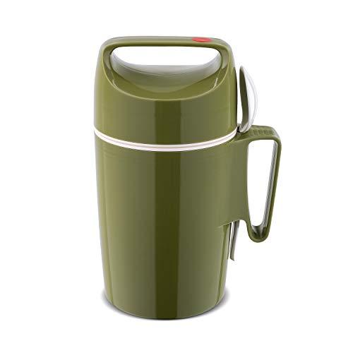 ROTPUNKT Speisegefäß 850 Dirk 0,85 l | BPA frei | Glaseinsatz | hochwertig | Olive