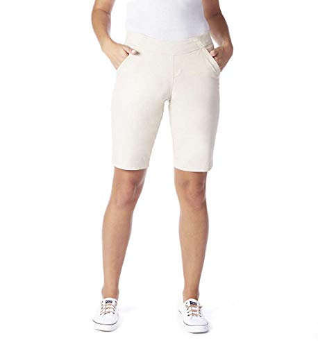 Jag Jeans Women's Gracie Pull On Bermuda Short, Grey Streak, 10