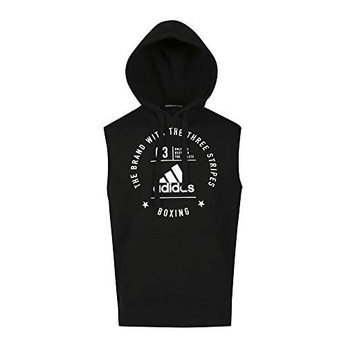 adidas Erwachsene Community Line Hoodie, schwarz/Weiß, S