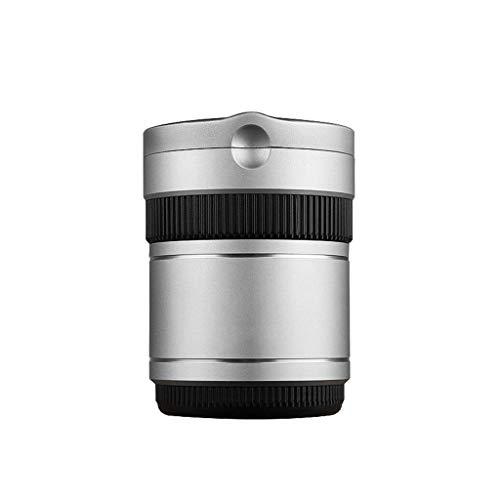 Tenedor de la Taza de aleación de Aluminio del Coche de cigarros con Forma de Estrella Indicador de luz LED sin Humo para Coche, hogar, Oficina y Viaje Interior (Color: Rojo) YXF99 (Color : Silver)