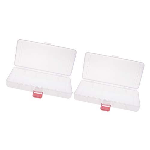 yotijar 2X Caja de Almacenamiento de Plástico Rectangular para Componentes