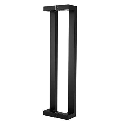 HLL Al aire libre cubierta universal de escalera Baranda, manija de la puerta de cristal, tubo cuadrado de acero inoxidable Negro Oficina de empujar y jalar la manija de la puerta/manija de la