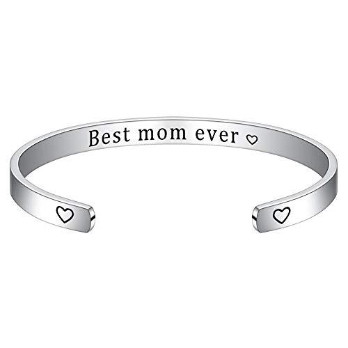 M MOOHAM Mom Bracelet from Daughter Son, Best Mom Ever Bracelet for Mom Birthday Christmas, Mom...