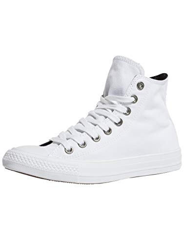 Converse Damen Chuck Taylor CTAS Hi Canvas Fitnessschuhe, Weiß (White/Black/White 113), 40 EU
