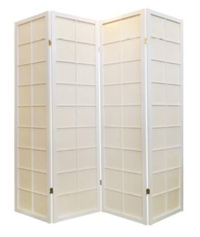 Fine Asianliving Japanischer Raumteiler L180xH180cm Paravent Shoji 180/W4 Reispapier Sichtschutz Trennwand Faltbar Raumtrenner Spanische Wand - 112-510