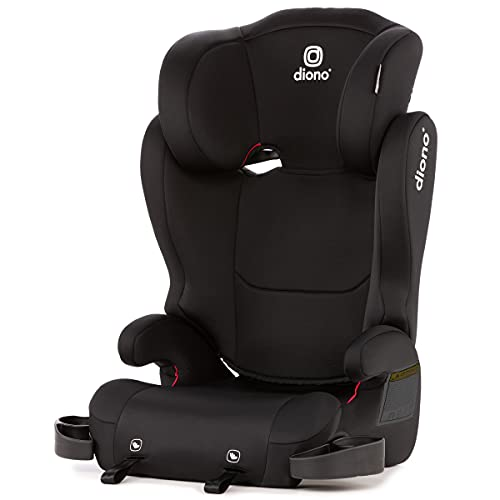 Diono Cambria 2 Latch, 2-in-1 Belt Positioning Booster Seat, High-Back to Backless Booster XL Space and Room to Grow, 8 Years 1 Booster Seat, Black