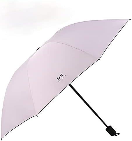 Black Rubber Department store Seattle Mall Sunscreen UV Three-fold Sunny rai Umbrella