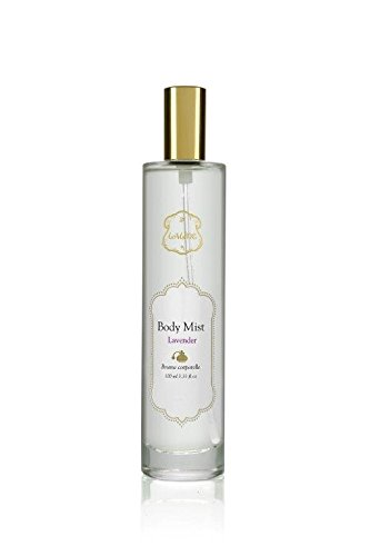Laline Body Mist for Women Lavender Scent. Body Oil Spray, Multipurpose Body Oil Mist Helps Moisturize and Condition Skin for a Satin Finish Body Glow And A Light Feminine Scent. 33.3 oz.