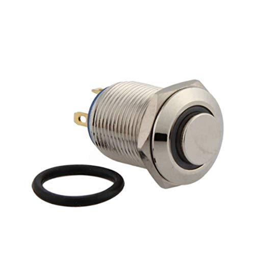 Gesh 12 mm 3 V LED rojo momentáneo encendido/apagado pulsador interruptor para coche, barco