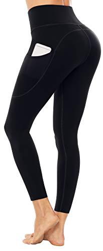 Sociala Women's 7/8 Leggings with Pockets Workout High Waist Yoga Pants Butt Lift Tummy Control Tight