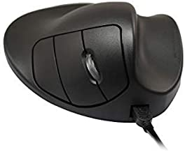 Hippus L2WB-LC Wired Light Click Handshoe Mouse (Right Hand, Large, Black)