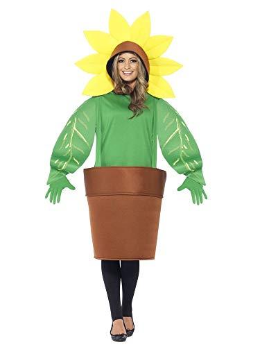 Sonnenblume im Topf Damen Herren Kostüm Unisex Kapuze Blumentopf Pflanze lustig witzig JAG Straßenkarneval Fasching