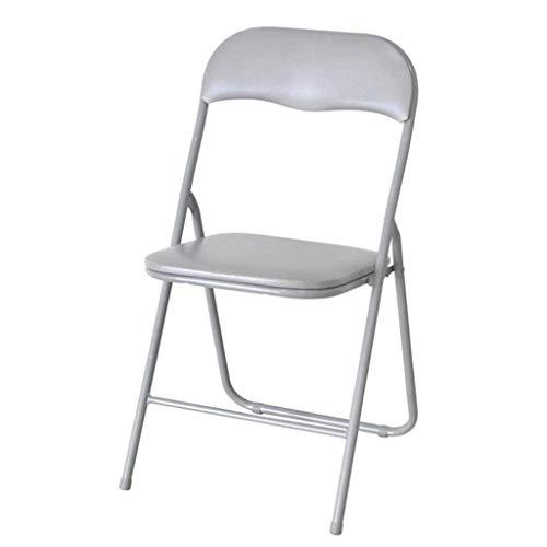 Klappstuhl Klappbarer gepolsterter Büroempfangsschreibtisch Klappstuhl Einfache Aufbewahrung (Farbe: Hellgrau 81 * 43 * 46 cm)