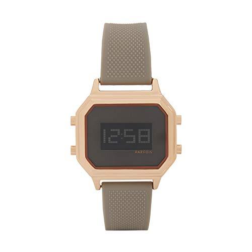 Parfois - Reloj Digital Rose Gold Tray - Mujeres - Tallas Única - Beige
